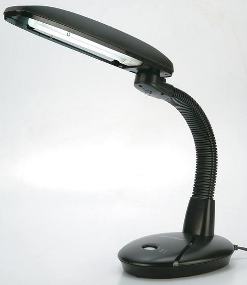 EasyEye Energy Saving Desk Lamp in Black (2-tubes bulb)