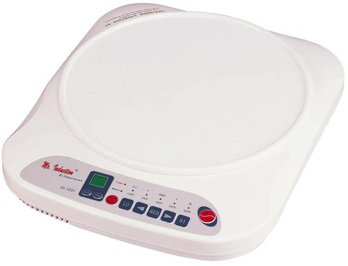 1200W Countertop Induction Cooktop - White