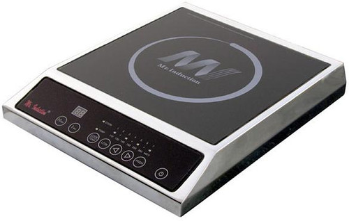 1400W Countertop Induction Cooktop - Stainless Steel Housing