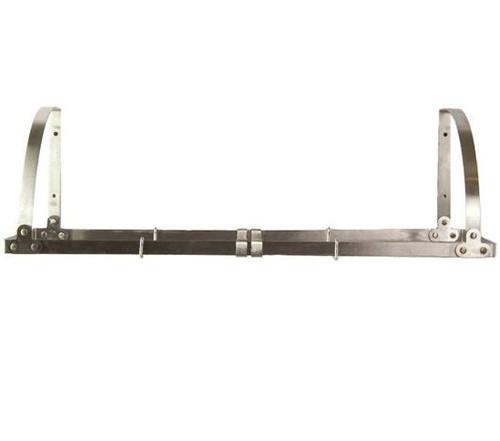 Wall-Mount Adjustable Pot Rack / Shelf - Stainless Steel