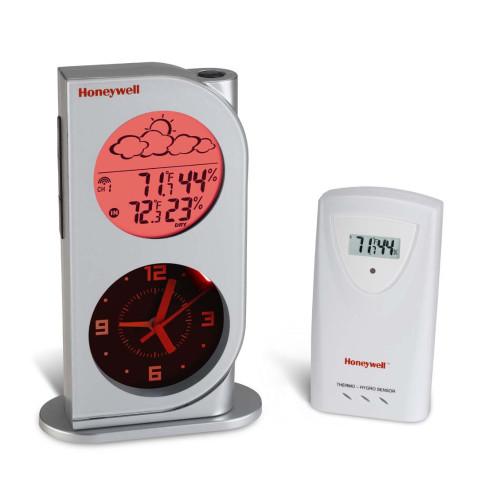 Honeywell TC682EL Dual View Wireless Weather Station w/Analog Quartz Clock