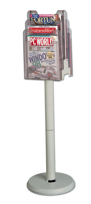 Axcess 6-Pocket Rotary Floor Stand - Grey