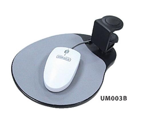 Under-Desk Swivel Ergonomic Mouse Platform-Black