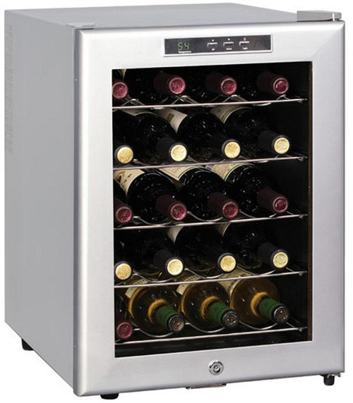 20-Bottle Thermoelectric Wine Chiller (Platinum trim and cabinet)