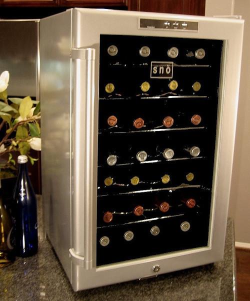 Whynter SNO 28 Bottles Wine Cooler - Platinum with lock