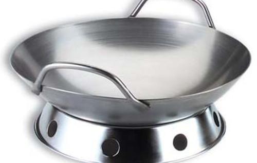 """Professional Series Carbon Steel 14"""" Round-Bottom Wok WK-13620"""