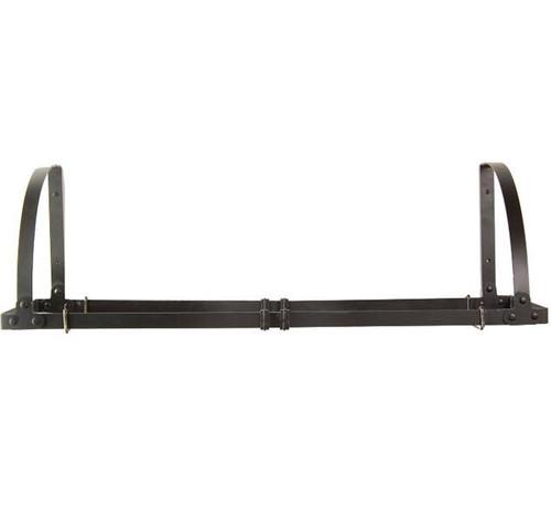 Wall Mount Adjustable Pot Rack / Shelf - Black Satin