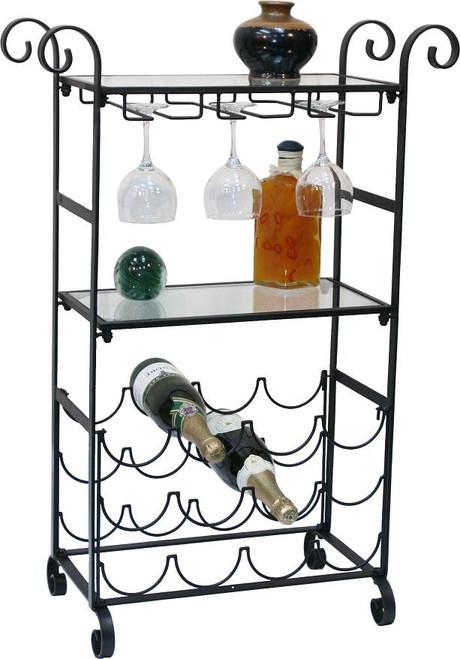 Solid Metal Wine / Glass Floor Rack