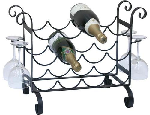 Solid Metal Wine / Glass Counter Rack