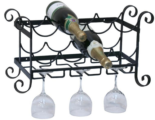 Solid Metal Wine / Glass Wall Rack