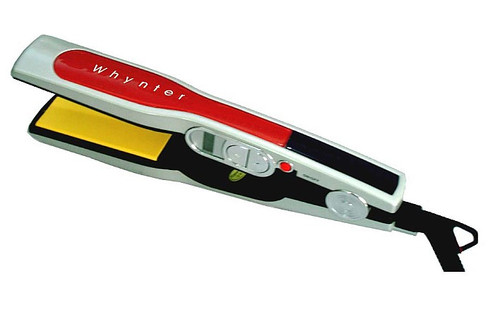 Whynter Professional Digital LCD Ceramic Hair Iron - Red