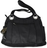 Black Shoulder Carry Leather Locking Concealment Purse - 2- CCW Concealed Carry Gun Bag