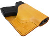 Tan Italian Leather Pocket Holster for Glock 43 and Similar Guns