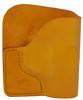 Tan Italian Leather Pocket Holster for S&W Bodyguard 380 and Similar Guns