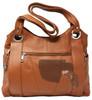 Garrison Grip LT Brown Leather Locking Concealment Purse - CCW Concealed Carry Gun Bag