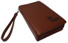 Brown Brazilian Leather Day Planner Gun Case With Engraved Letters LRG/SM Guns