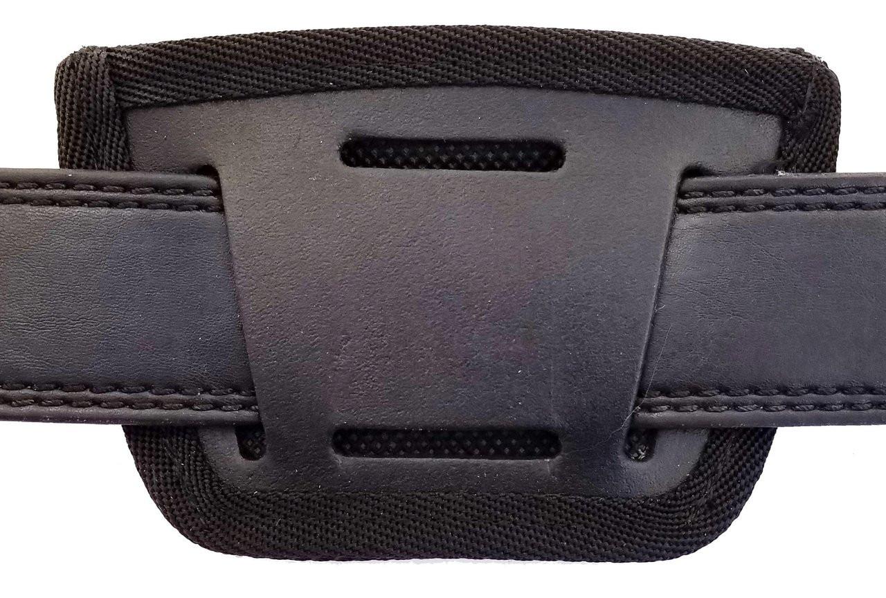 Garrison Grip Leather Inside and Outside Waistband Easy Slide Holster Fits Ruger SP101 Black(SLH)