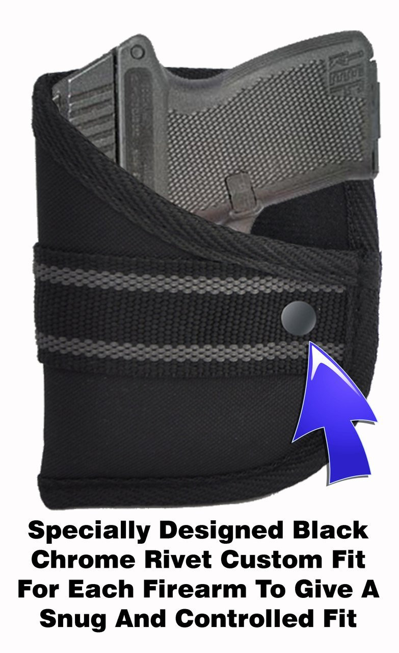 Kel-Tec P3AT With Crimson Trace LG-430 Laserguard Right Handed Comfort Designed Custom Fit Woven Poly Pocket Holster (W2)