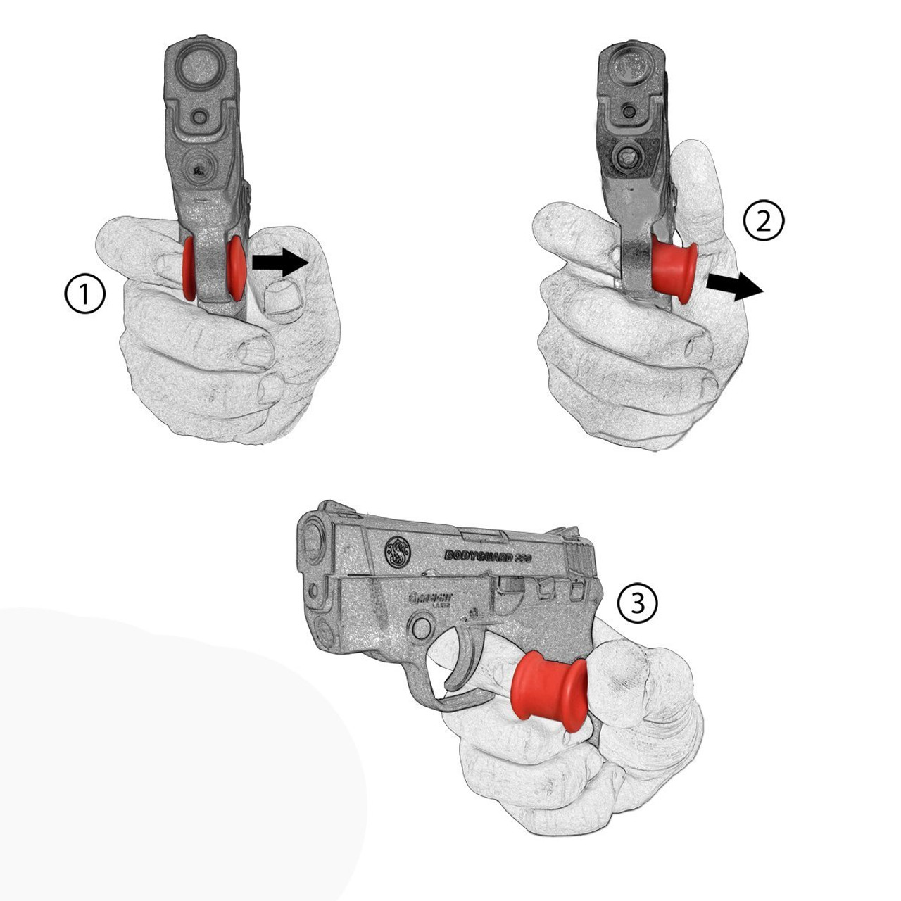 Ruger LC380 380 Fast Draw Micro Holster Trigger Stop