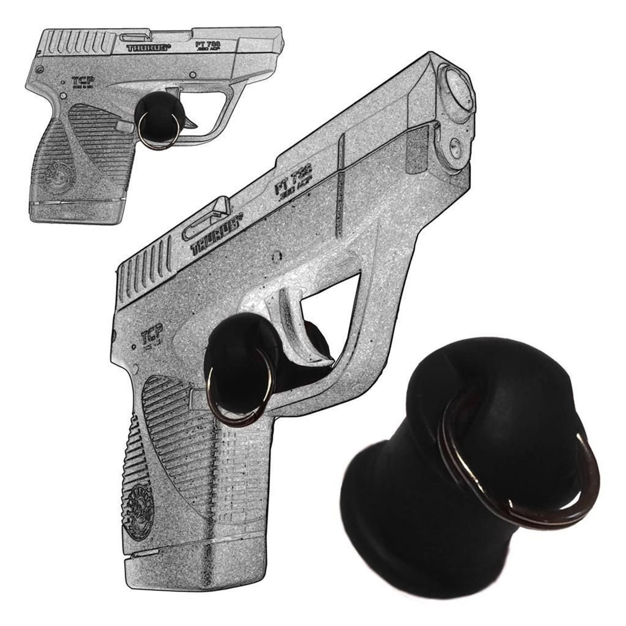 Taurus PT738 380 and PT732 .32 Caliber Concealed Carry Micro Holster Trigger Stop With Push-Pull Feature, PP