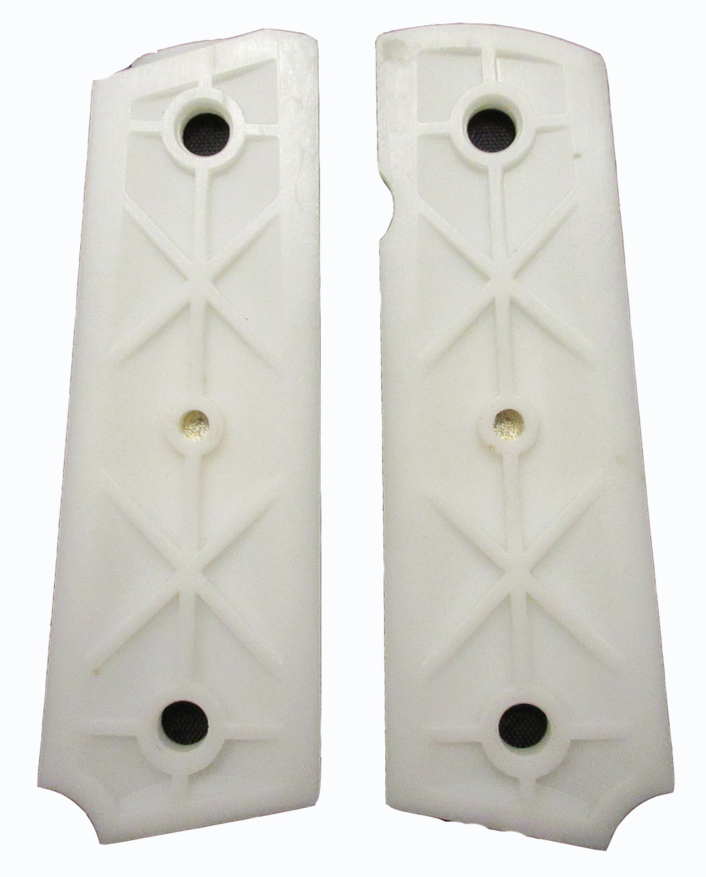 1911 Government Model US Navy Emblems Set Attractive Light Ivory Color Grips G24