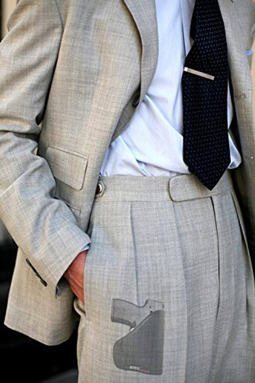 Beretta Nano Custom Fit Leather Trimmed orGUNizer Poly Pocket Holster For Concealed Carry Comfort (D)