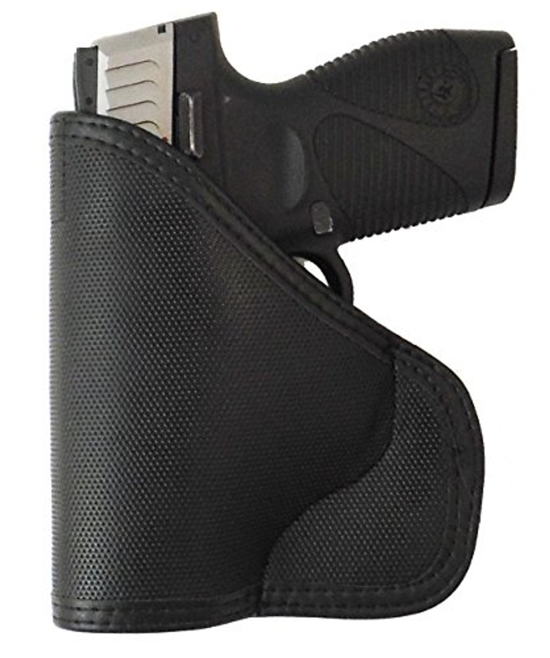 Taurus PT709 and PT740 Custom Fit Leather Trimmed orGUNizer Poly Pocket Holster For Concealed Carry Comfort (D)