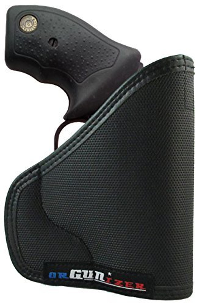 Taurus Concealed Carry Revolver 38 Special 357 Magnum 9mm 22 MAG 380 ACP 22 S/L/LR Custom Fit Leather Trimmed orGUNizer Poly Pocket Holster by Garrison Grip (D)