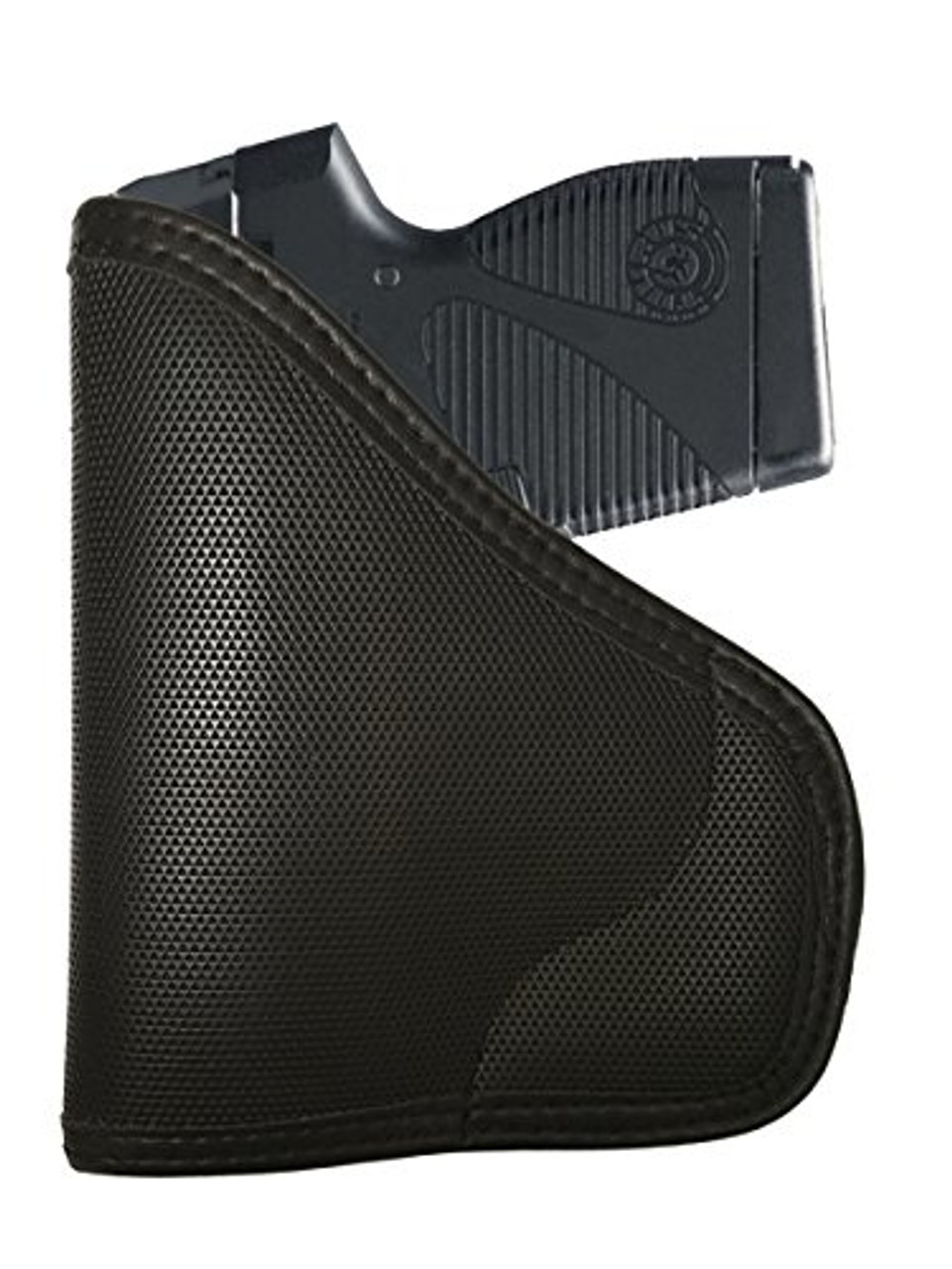 Taurus PT732 TCP 380 and PT738 32 Caliber With Laser Custom Fit Leather Trimmed orGUNizer Poly Pocket Holster For Concealed Carry Comfort by Garrison Grip (D)