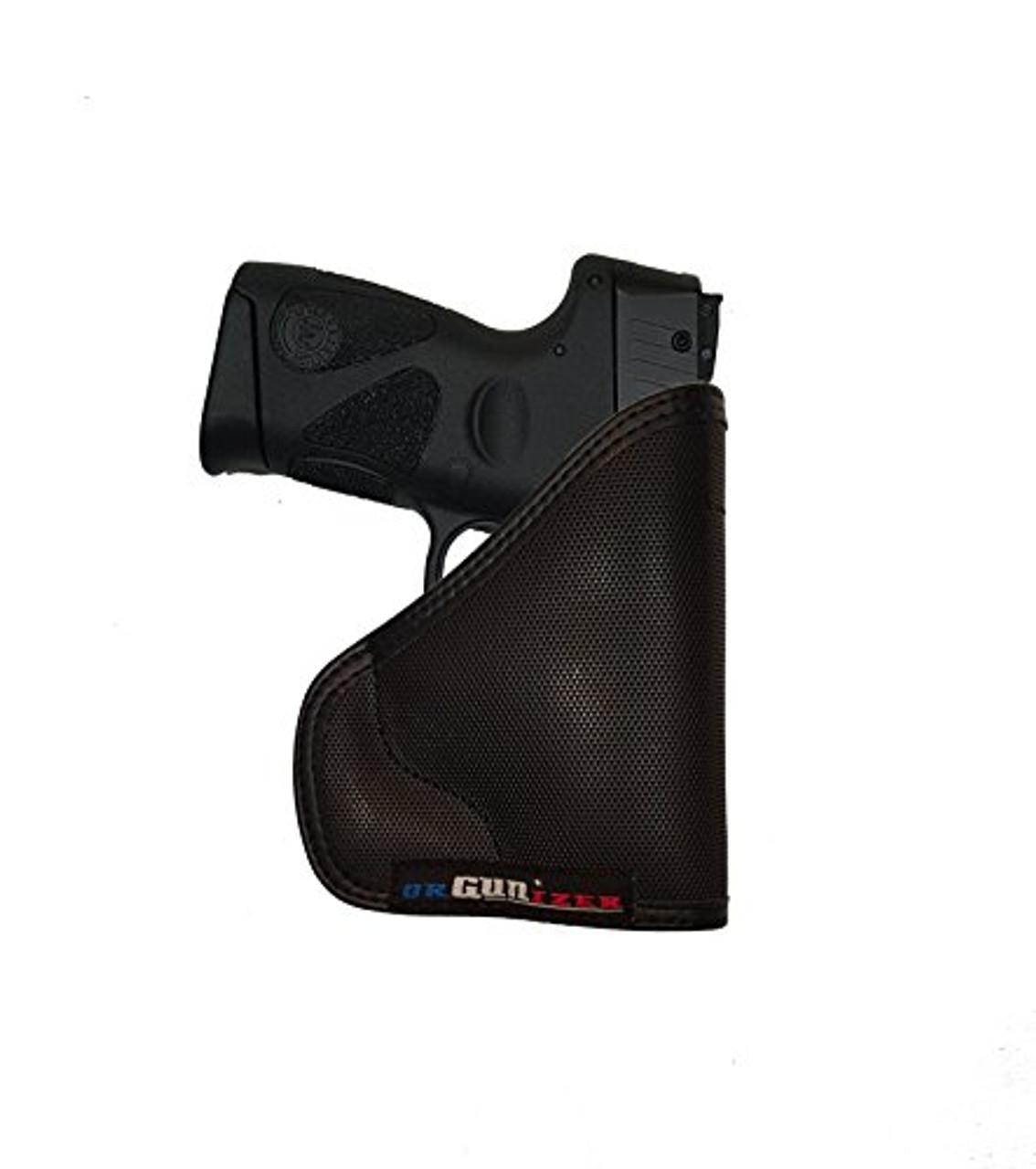 Taurus PT111  Gen2 G2 G2c Millennium Custom Fit Leather Trimmed orGUNizer Poly Pocket Holster For Concealed Carry Comfort by Garrison Grip (D)