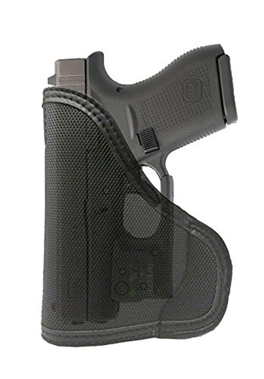 Ruger LC9 with Viridian Laser Custom Fit Leather Trimmed orGUNizer Poly Pocket Holster For Concealed Carry Comfort (D)