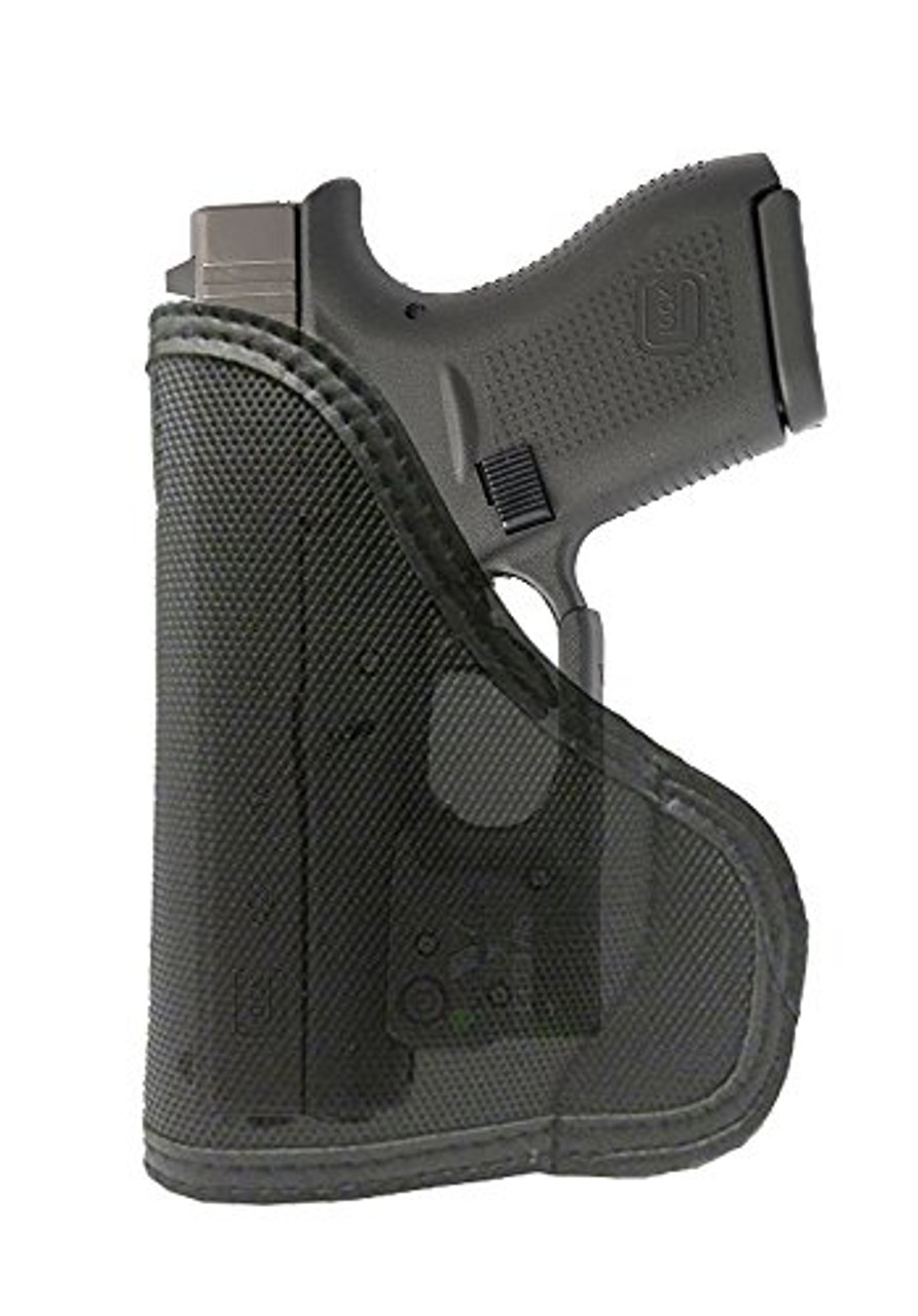 Ruger LC9 with Lasermax Custom Fit Leather Trimmed orGUNizer Poly Pocket Holster For Concealed Carry Comfort (D)