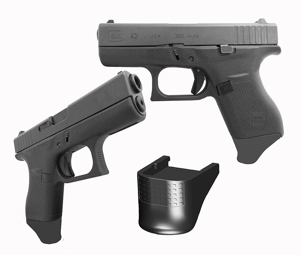 """.875"""" Grip Extension Extra Long Fits Glock 42 G42 380"""