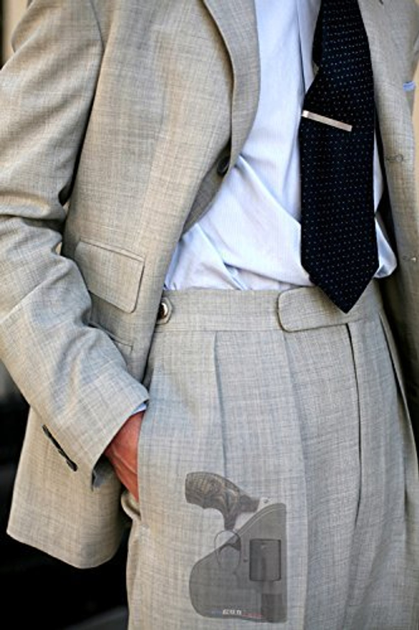 Garrison Grip Custom Fit Leather-Trimmed Pocket Holster Concealed Carry Comfort, Smith & Wesson Sm J Frame, Bodyguard