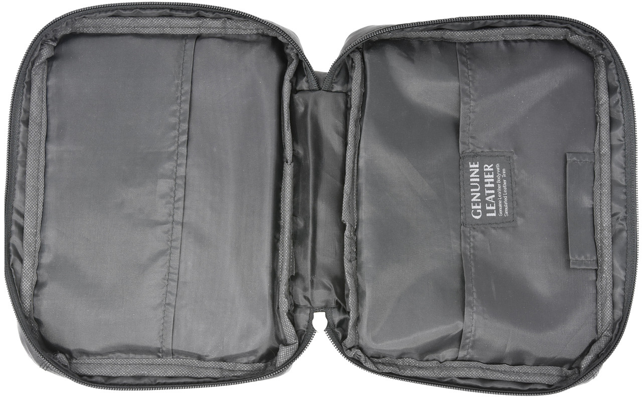 Garrison Grip CCW Leather  Bible or Day Planner Cover Case for Small Sized 380 Cal and 9mm Guns (Cover Case - Black)