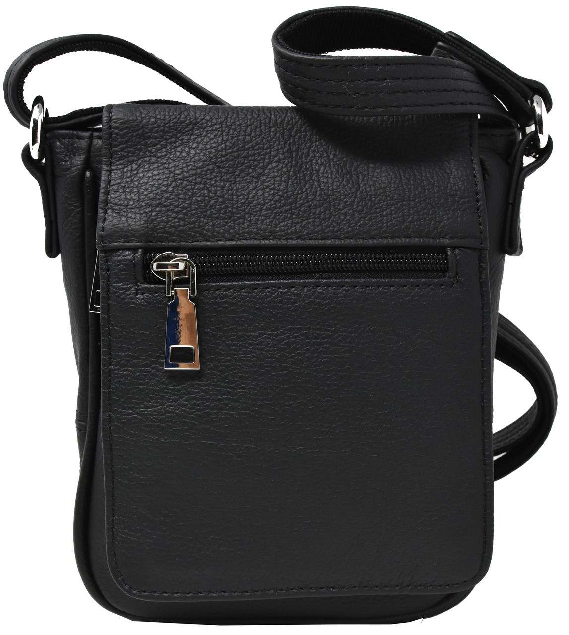 Garrison Grip CCW Attractive Cowhide Black Leather Compact Concealment Purse With YKK Locking Compartment For Small Frame Semi-Auto 22 Cal 380 And 9mm Firearms