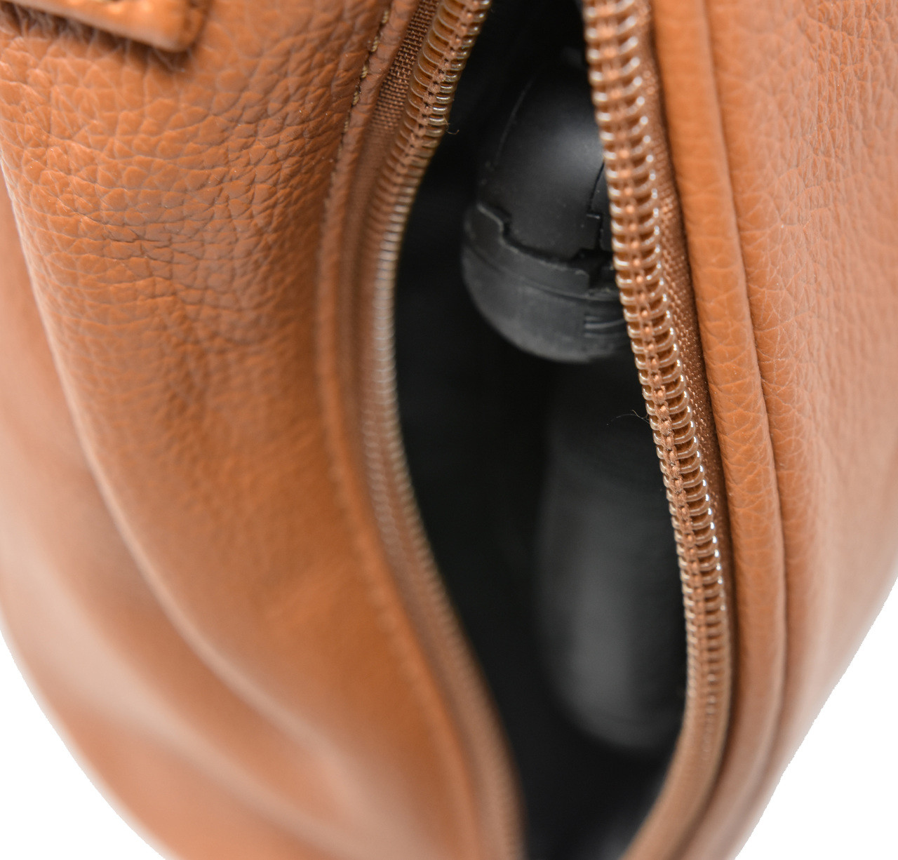 LT Brown Crossbody or Shoulder Carry Leather Locking Concealment Purse  - CCW Concealed Carry Gun Bag