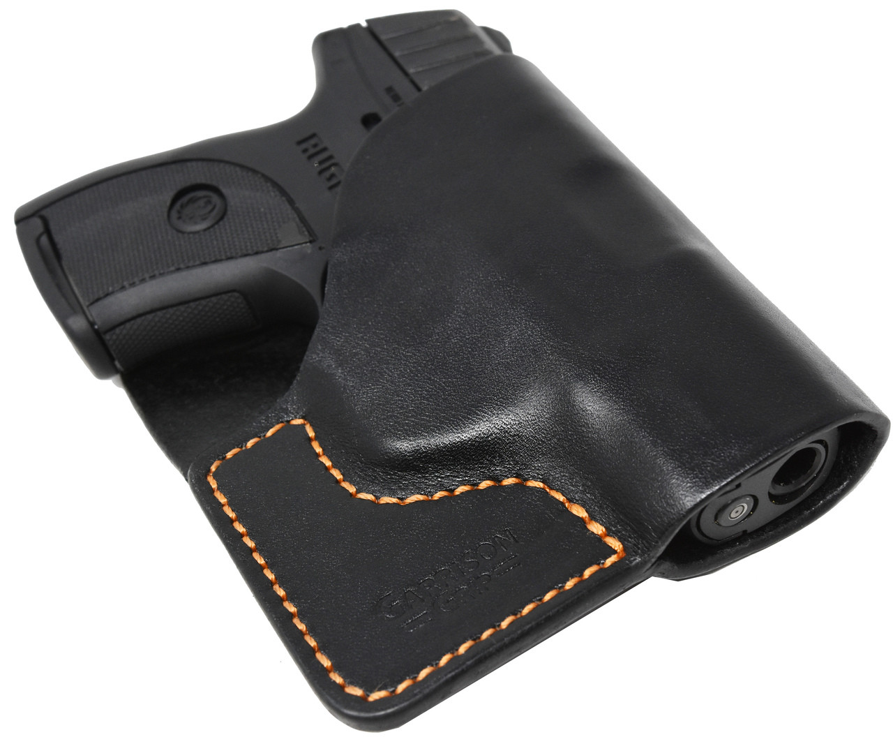 Black Italian Leather Pocket Holster for Ruger LC9 and EC9 and Similar Guns