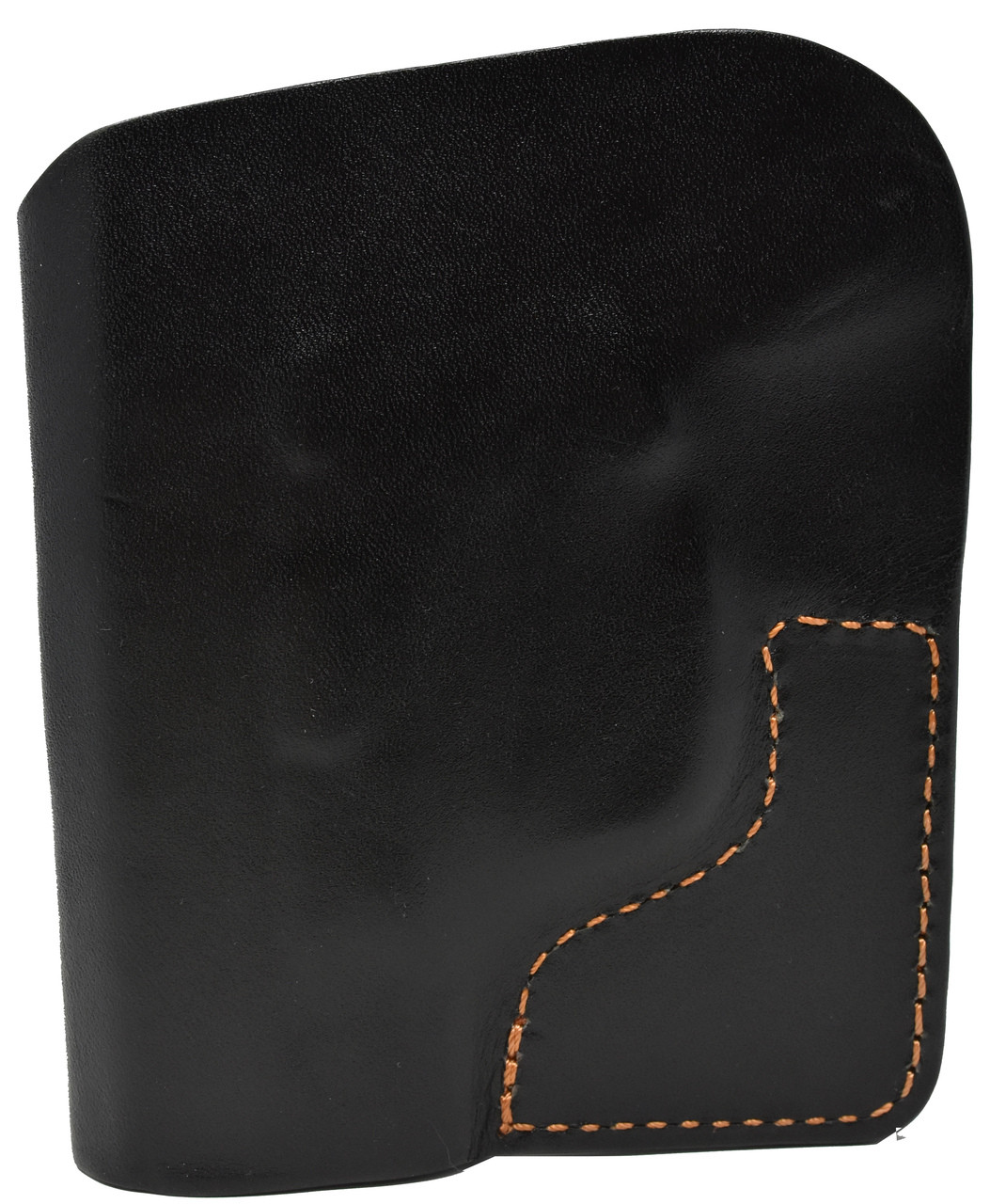 Black Italian Leather Pocket Holster for Beretta Pico 380 and Similar Guns