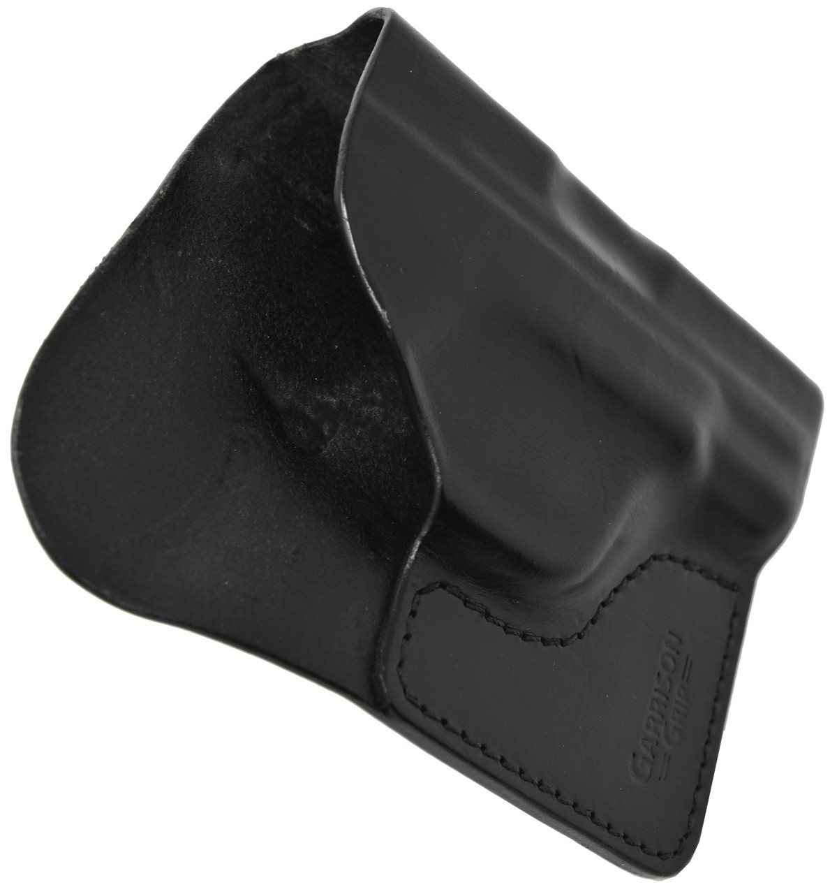 Black Italian Leather Pocket Holster for Remington 380 Auto and Similar Guns
