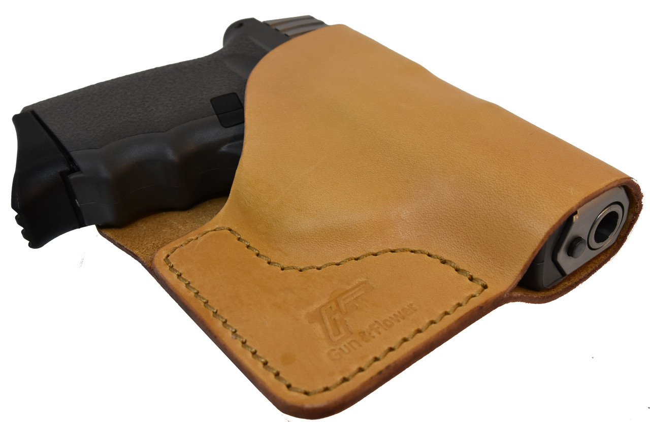 Tan Italian Leather Pocket Holster for SCCY CPX I & II and Similar Guns
