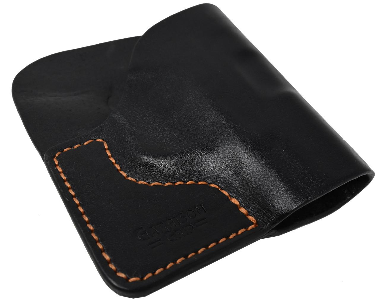 Black Italian Leather Pocket Holster for Taurus PT 732 & PT 738 and Similar Guns