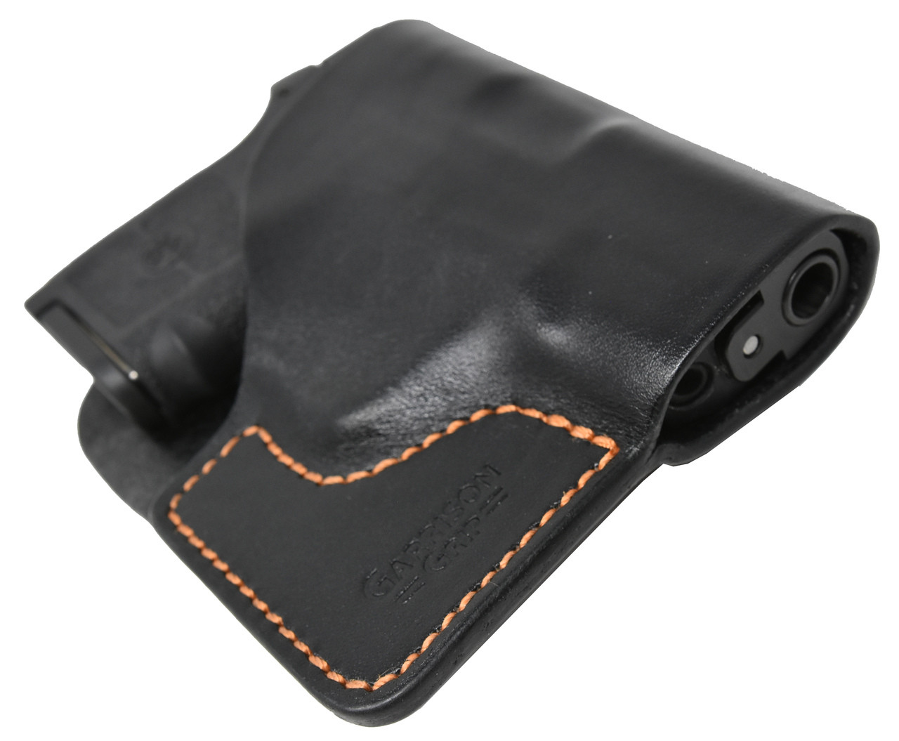Black Italian Leather Pocket Holster for S & W Bodyguard 380 and Similar Guns