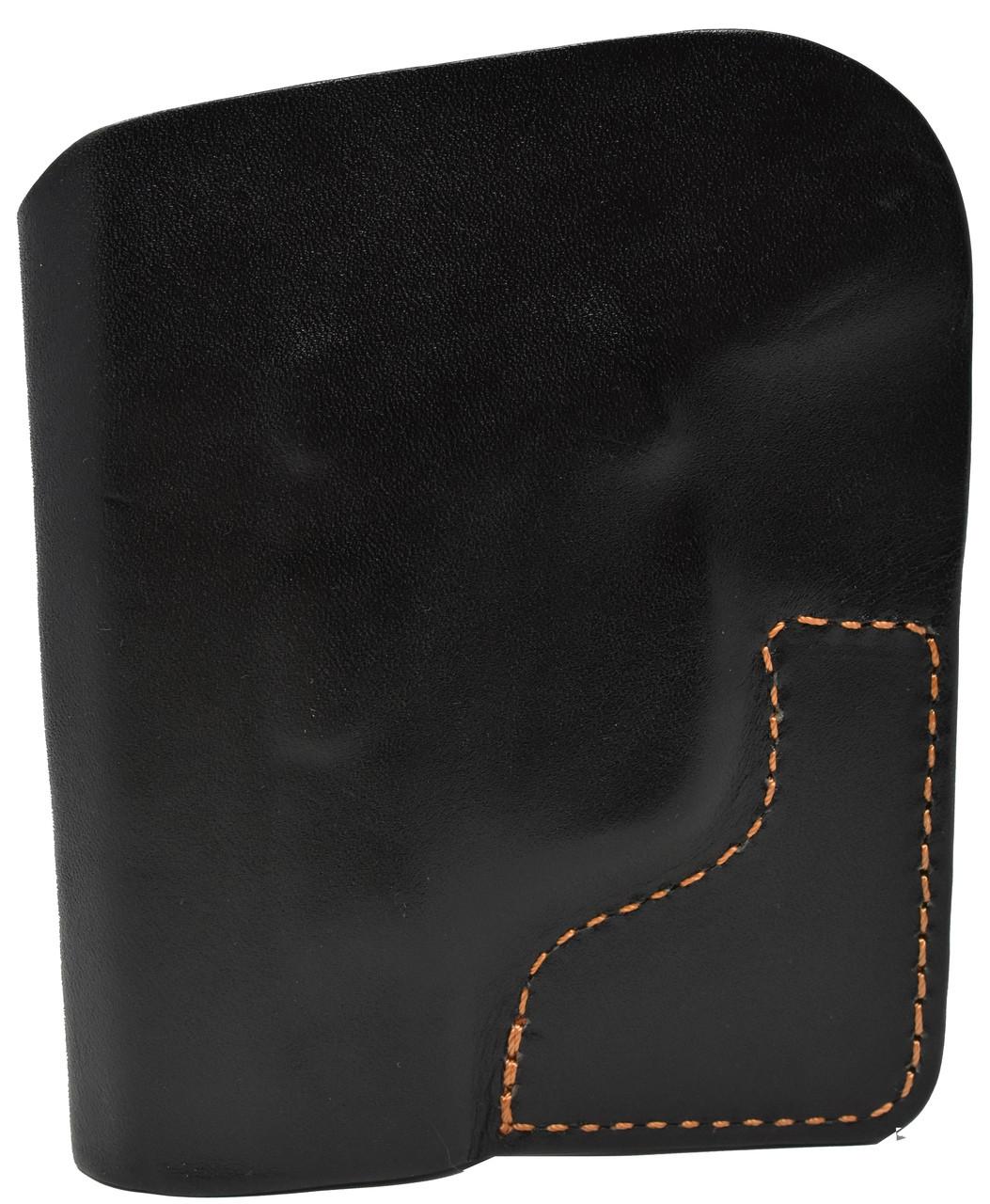 Black Italian Leather Pocket Holster for Kahr PM 9 and Similar Guns