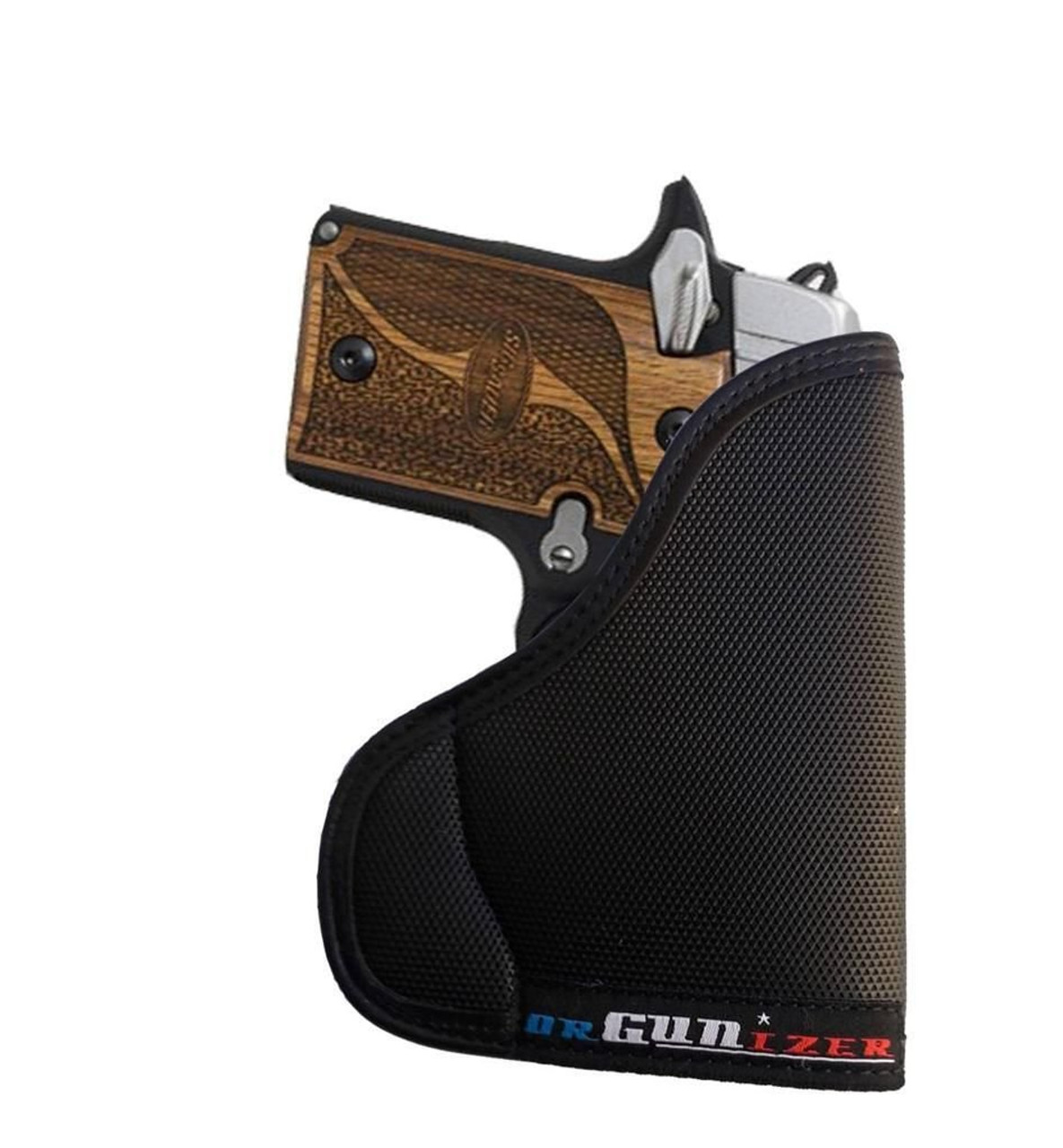 A Custom Fit Leather-Trimmed Poly Pocket Holster Fits Sig Sauer P238