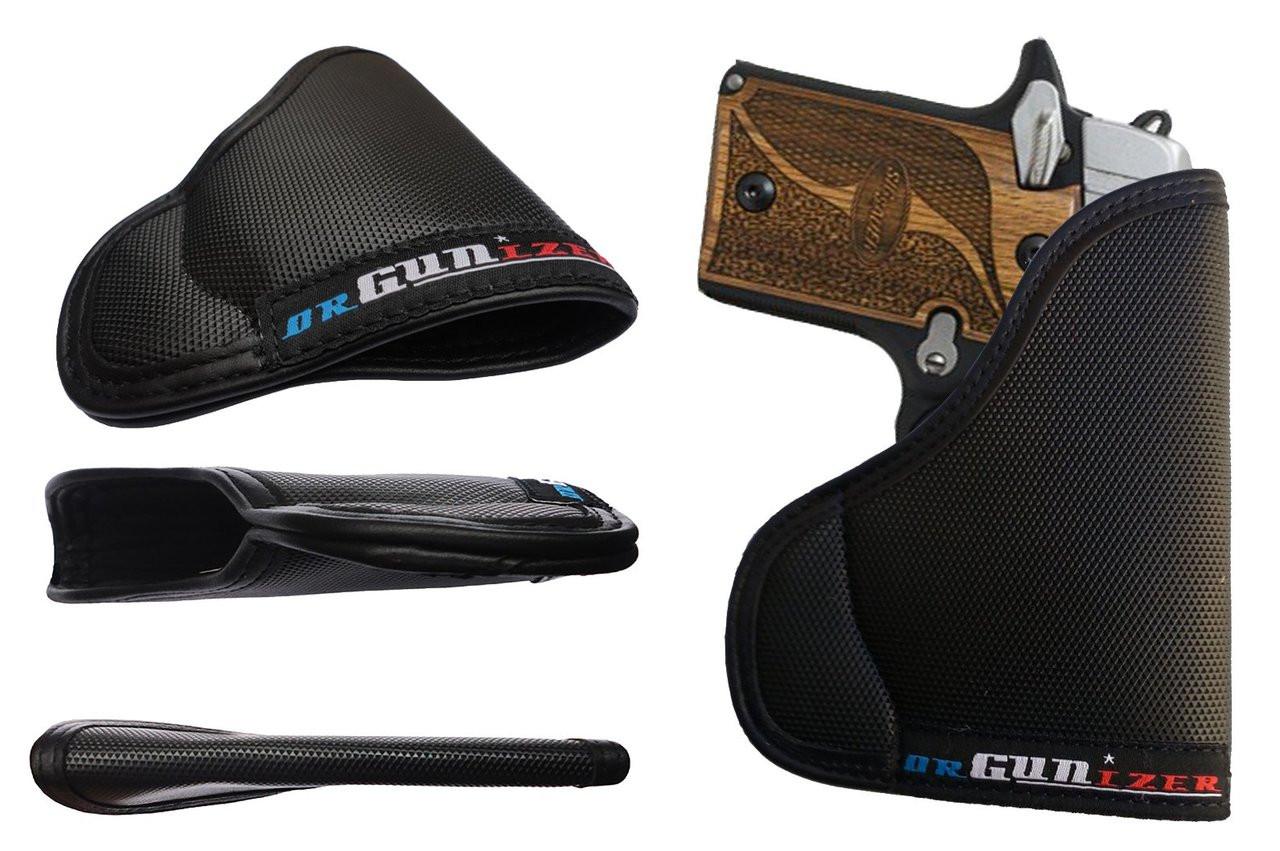 Garrison Grip Custom Fit Leather-Trimmed Pocket Holster Concealed Carry Comfort, Sig Sauer P938 w/Laser (D)