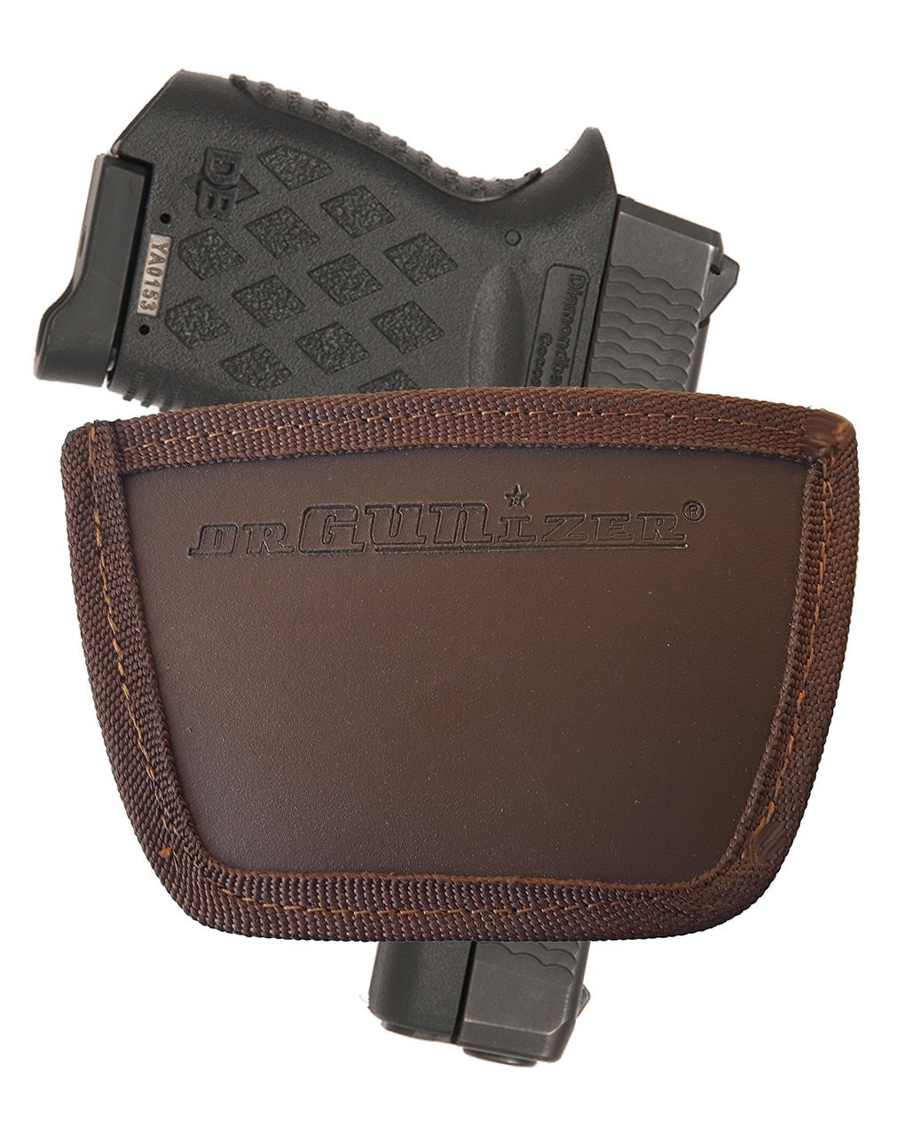 Garrison Grip Leather Inside and Outside Waistband Easy Slide Holster Fits Diamondback DB380 Brown