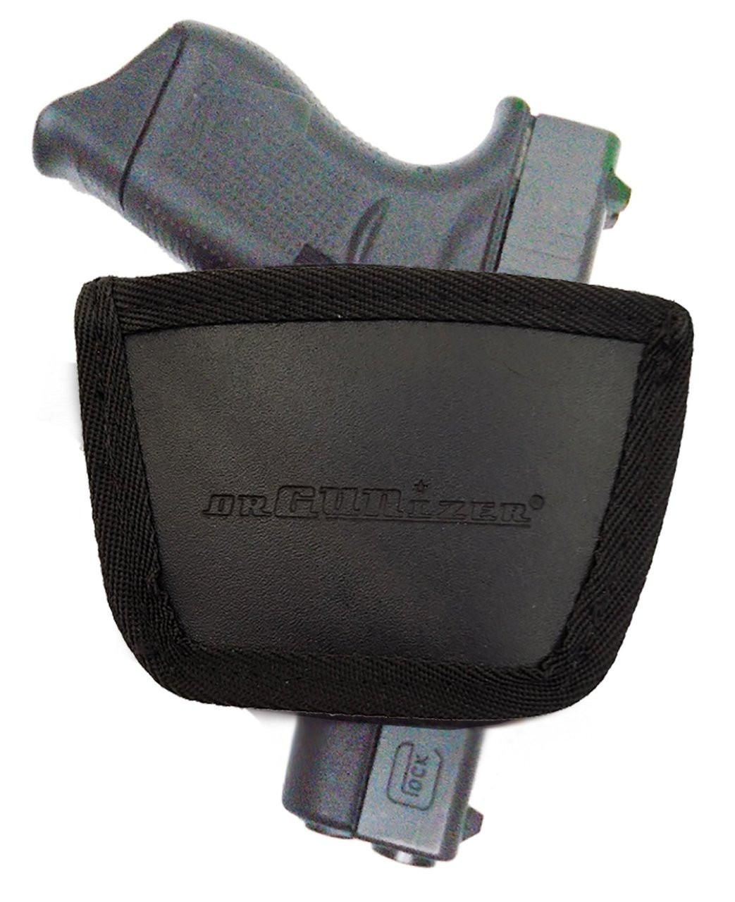 Garrison Grip Leather Inside and Outside Waistband Easy Slide Holster Fits Glock 43 Black