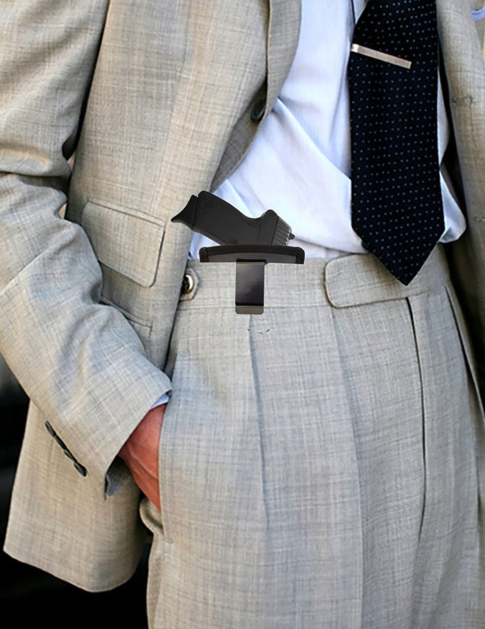 Garrison Grip Leather Inside and Outside Waistband Easy Slide Holster Fits Kel-Tec PF11 (SLH) Black
