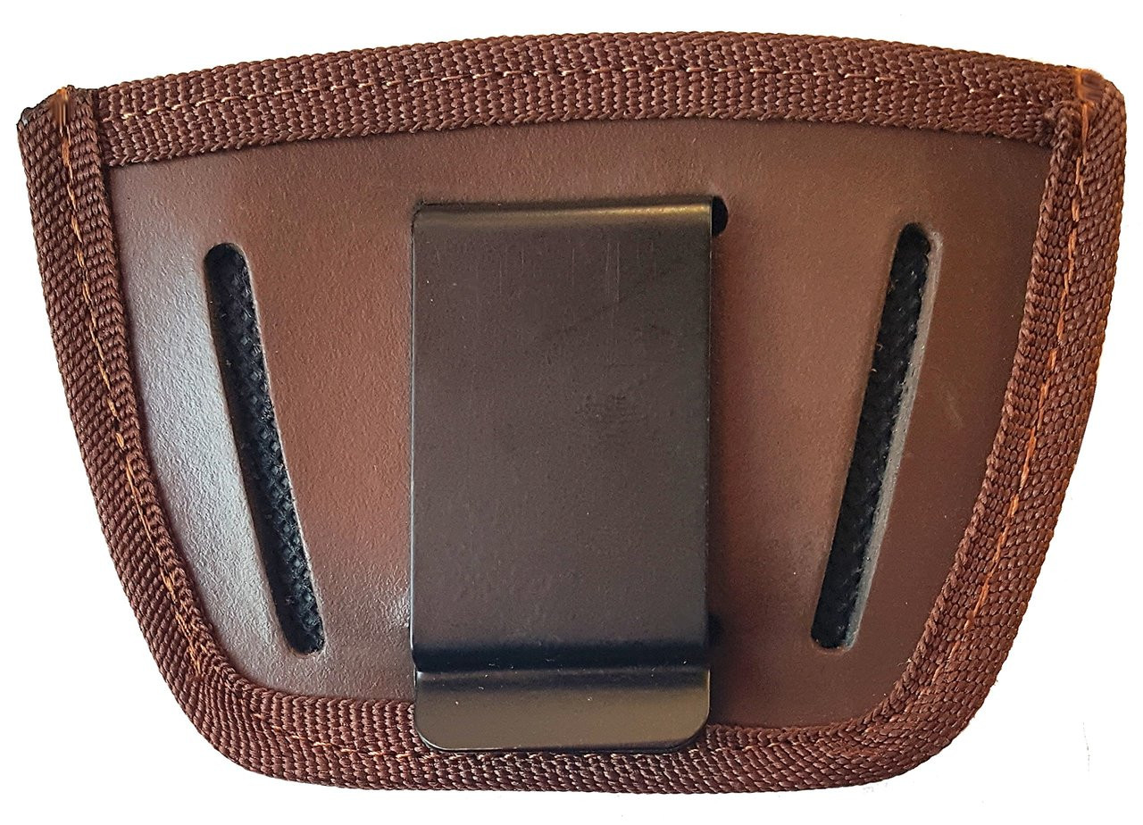 Garrison Grip Leather Inside and Outside Waistband Easy Slide Holster Fits Kel-Tec P11 Brown